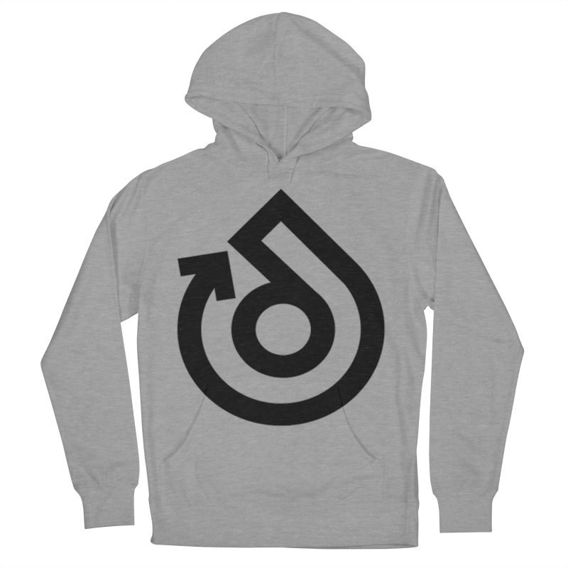 Full Logo Only Black Women's French Terry Pullover Hoody by direction.church gear