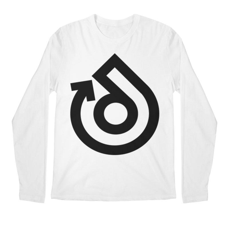 Full Logo Only Black Men's Regular Longsleeve T-Shirt by direction.church gear