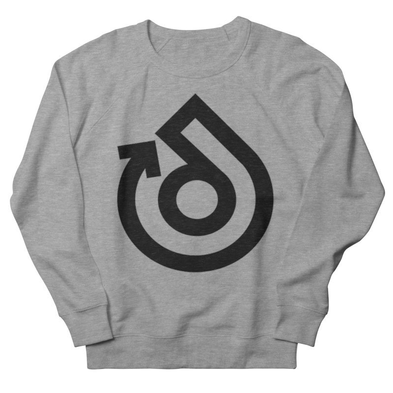 Full Logo Only Black Men's French Terry Sweatshirt by direction.church gear
