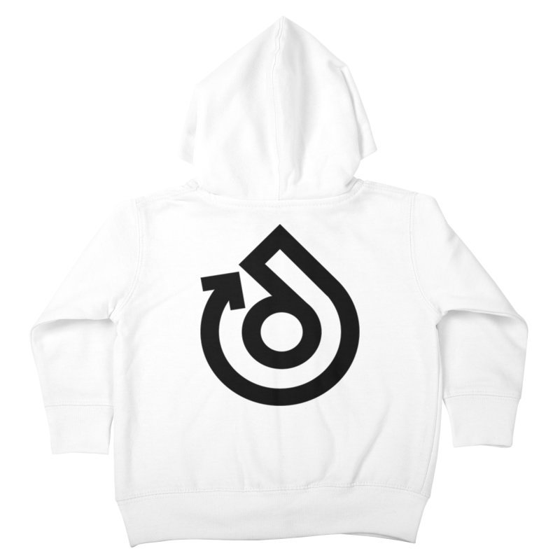Full Logo Only Black Kids Toddler Zip-Up Hoody by direction.church gear