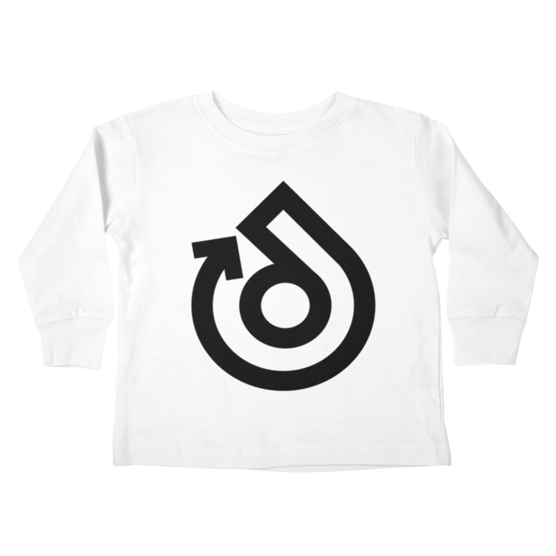 Full Logo Only Black Kids Toddler Longsleeve T-Shirt by direction.church gear