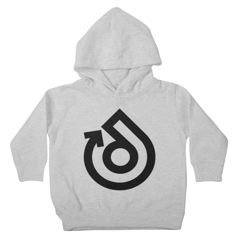 Full Logo Only Black Kids Toddler Pullover Hoody by direction.church gear