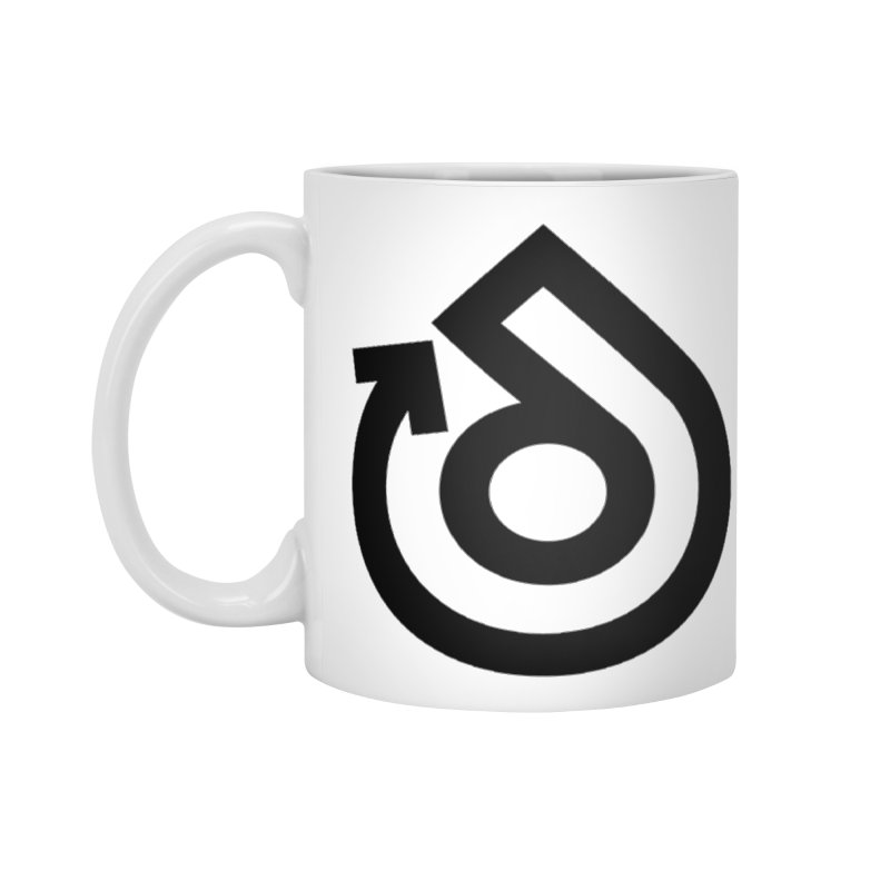Full Logo Only Black Accessories Mug by direction.church gear
