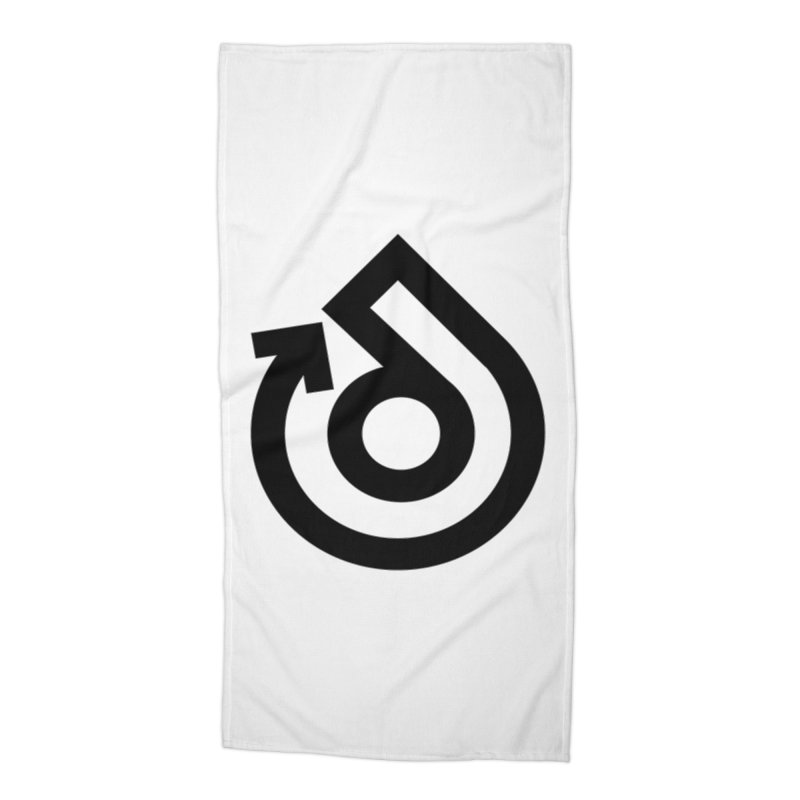 Full Logo Only Black Accessories Beach Towel by direction.church gear