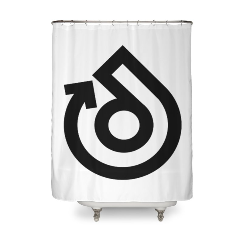 Full Logo Only Black Home Shower Curtain by direction.church gear