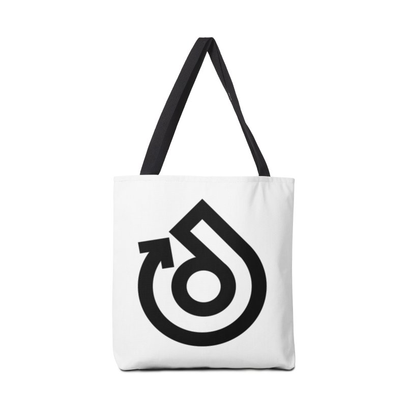 Full Logo Only Black Accessories Tote Bag Bag by direction.church gear