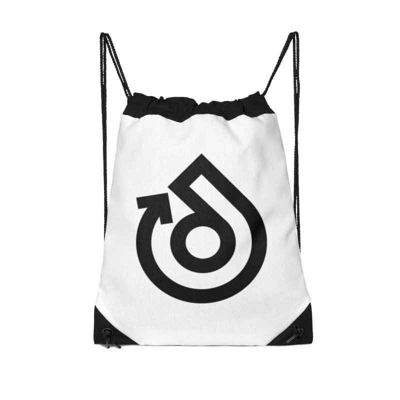 Full Logo Only Black Accessories Drawstring Bag Bag by direction.church gear