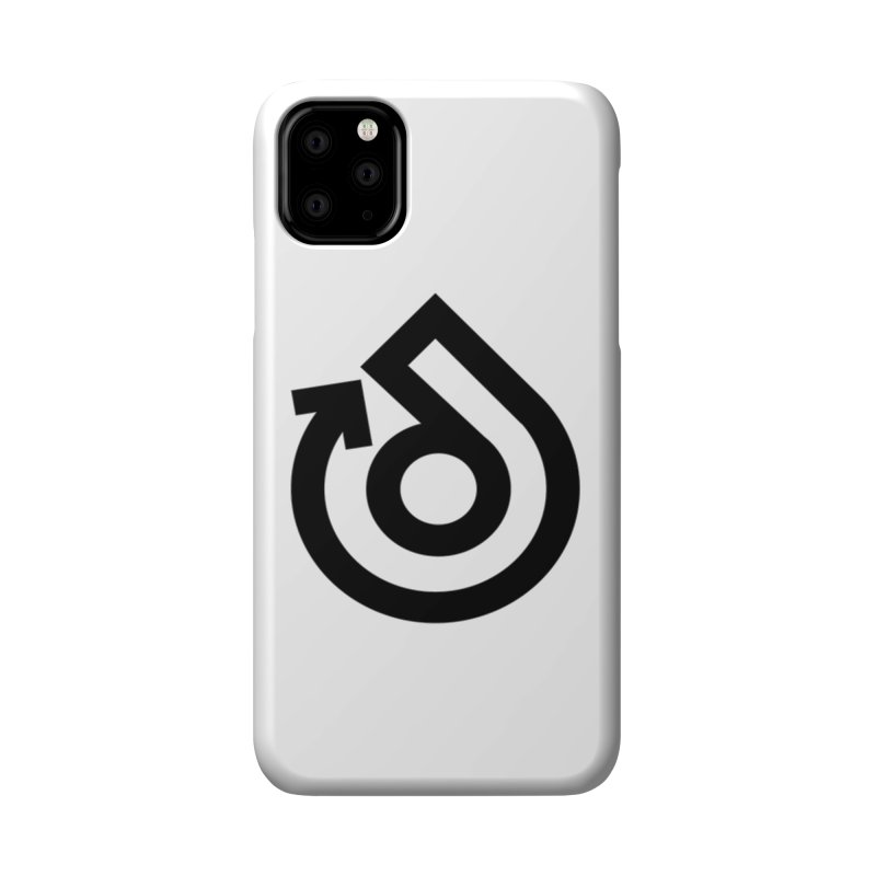 Full Logo Only Black Accessories Phone Case by direction.church gear