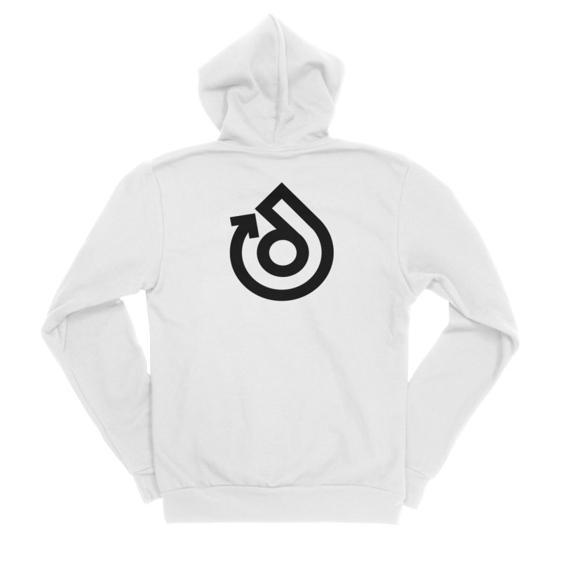 Full Logo Only Black Men's Sponge Fleece Zip-Up Hoody by direction.church gear
