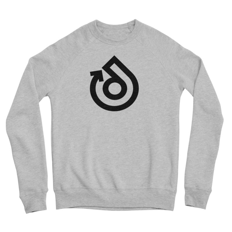 Full Logo Only Black Men's Sponge Fleece Sweatshirt by direction.church gear