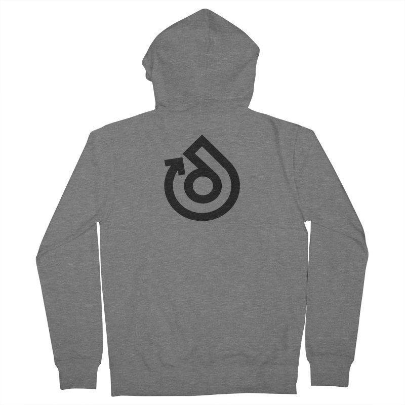 Full Logo Only Black Men's French Terry Zip-Up Hoody by direction.church gear