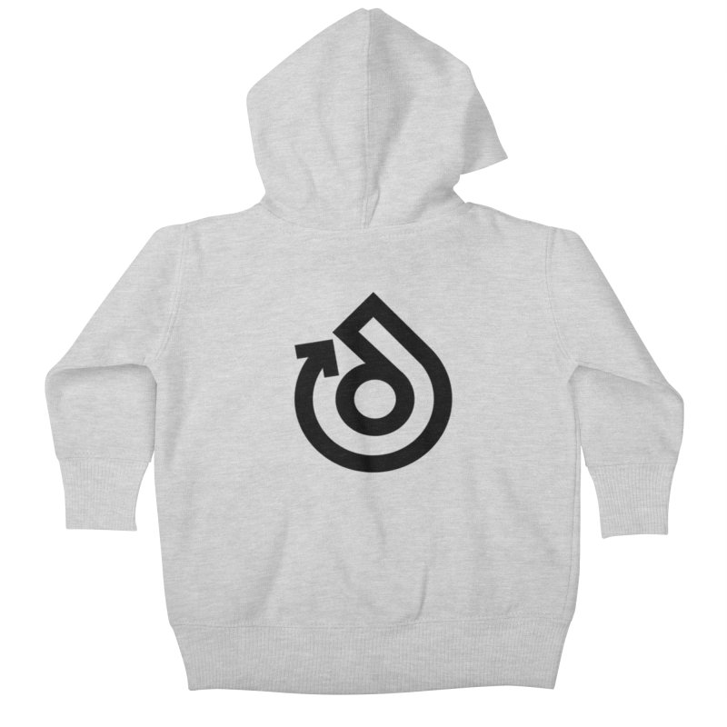 Full Logo Only Black Kids Baby Zip-Up Hoody by direction.church gear