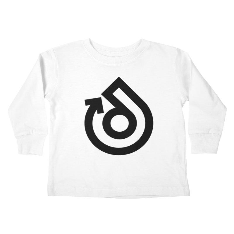 Full Logo Only Black Kids Toddler Longsleeve T-Shirt by direction.church gear