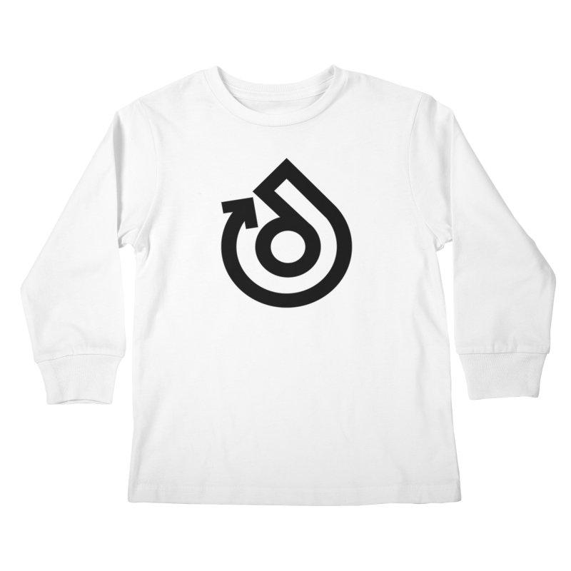 Full Logo Only Black Kids Longsleeve T-Shirt by direction.church gear