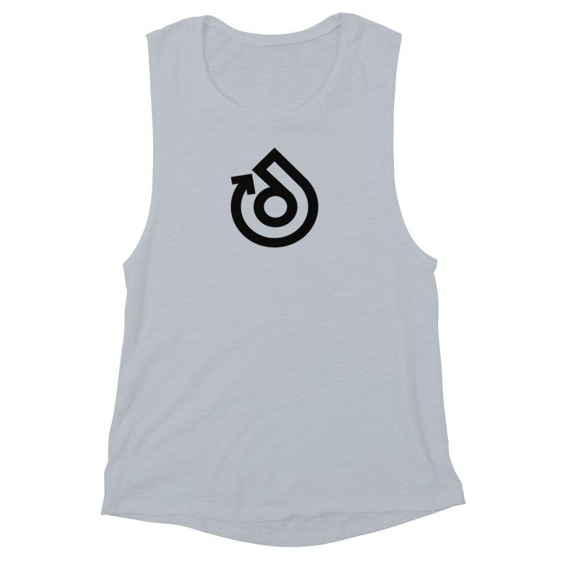 Full Logo Only Black Women's Muscle Tank by direction.church gear