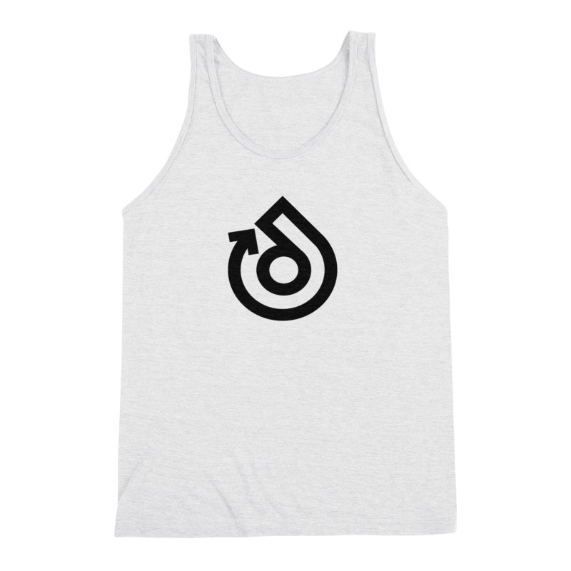 Full Logo Only Black Men's Triblend Tank by direction.church gear