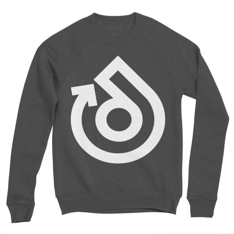 white logo only Women's Sponge Fleece Sweatshirt by direction.church gear