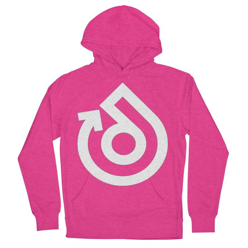 white logo only Women's French Terry Pullover Hoody by direction.church gear