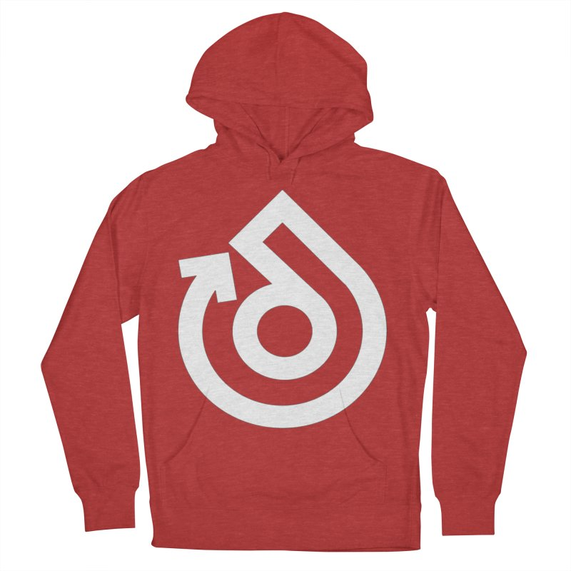 white logo only Men's French Terry Pullover Hoody by direction.church gear