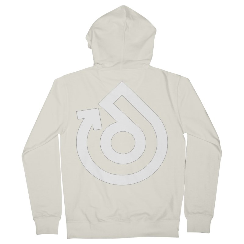 white logo only Women's French Terry Zip-Up Hoody by direction.church gear