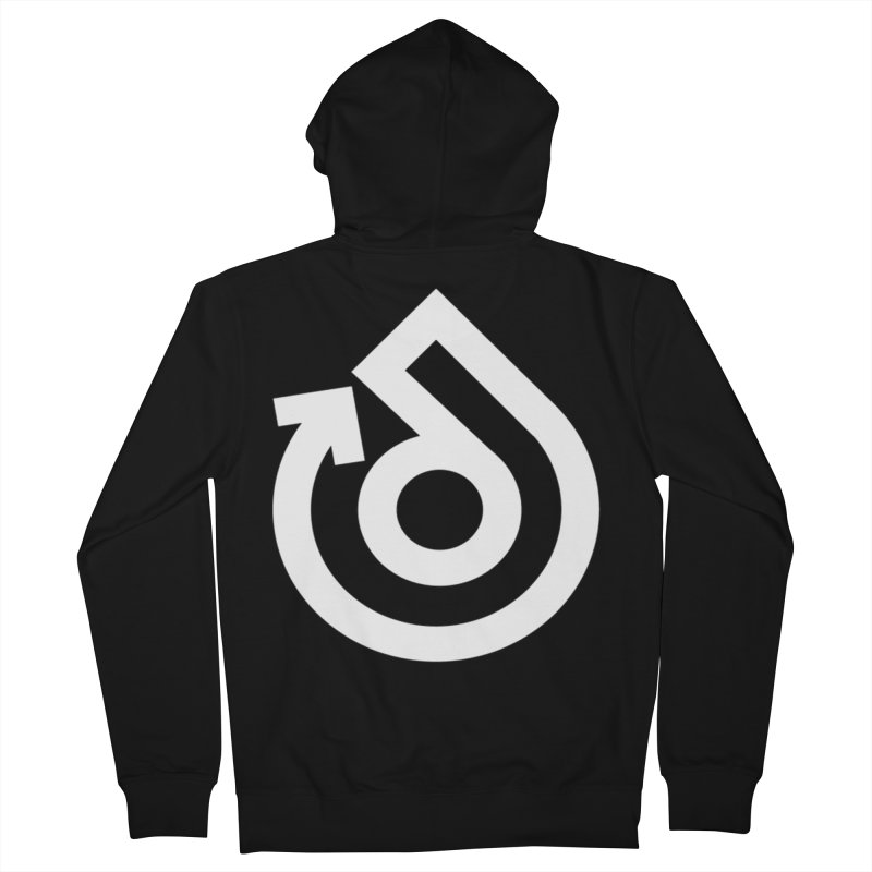 white logo only Men's French Terry Zip-Up Hoody by direction.church gear