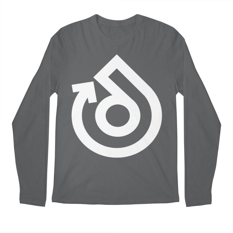white logo only Men's Regular Longsleeve T-Shirt by direction.church gear