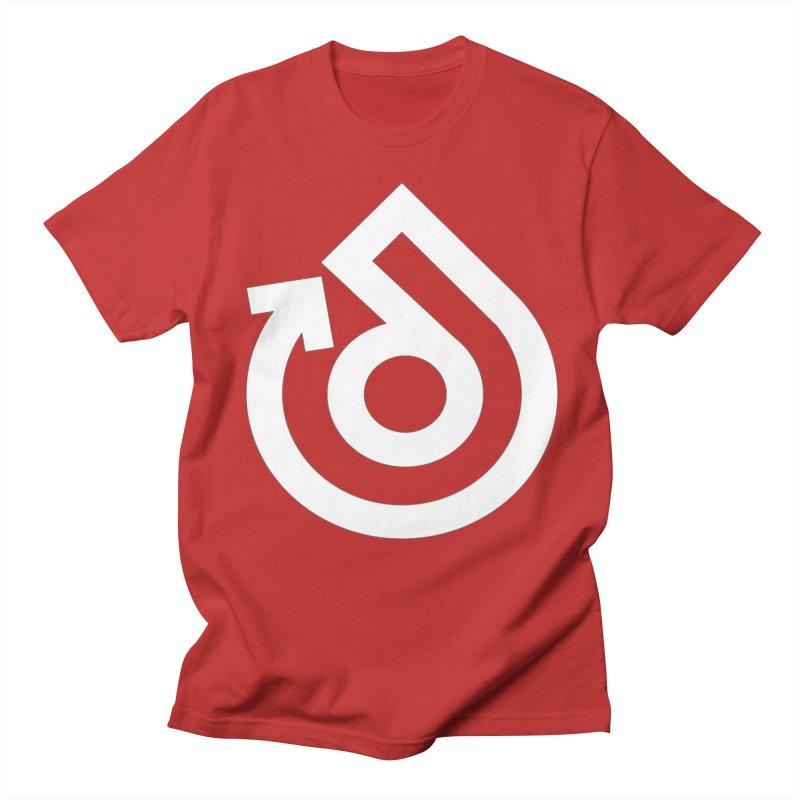 white logo only Men's Regular T-Shirt by direction.church gear