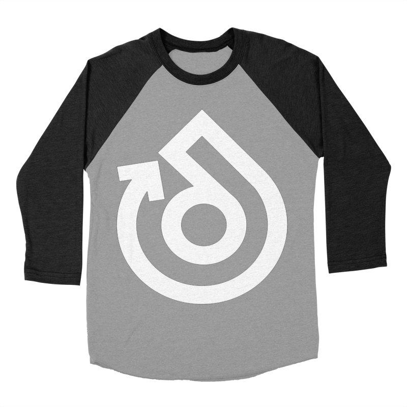 white logo only Women's Baseball Triblend Longsleeve T-Shirt by direction.church gear