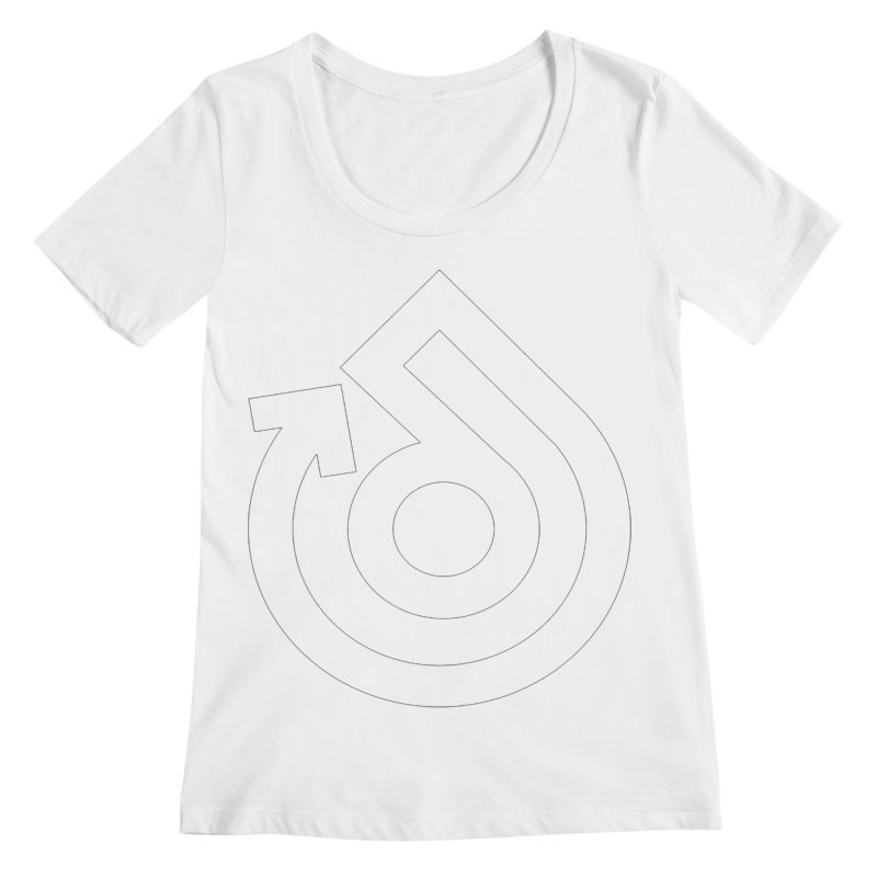 white logo only Women's Regular Scoop Neck by direction.church gear