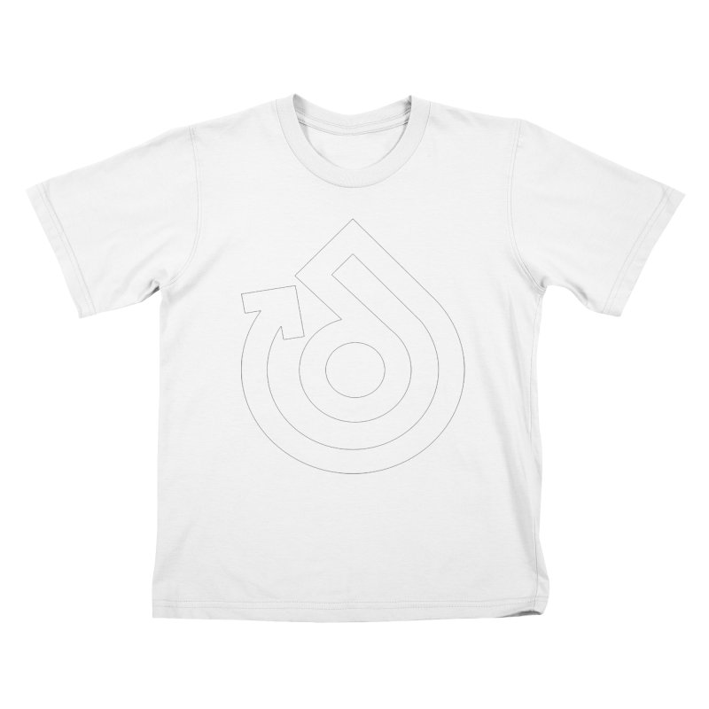white logo only Kids T-Shirt by direction.church gear