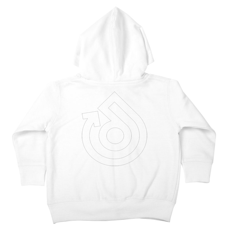 white logo only Kids Toddler Zip-Up Hoody by direction.church gear