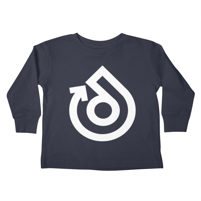 white logo only Kids Toddler Longsleeve T-Shirt by direction.church gear