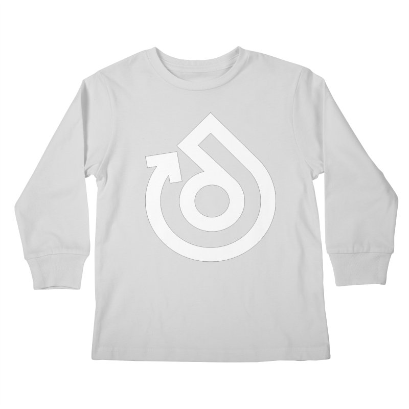 white logo only Kids Longsleeve T-Shirt by direction.church gear