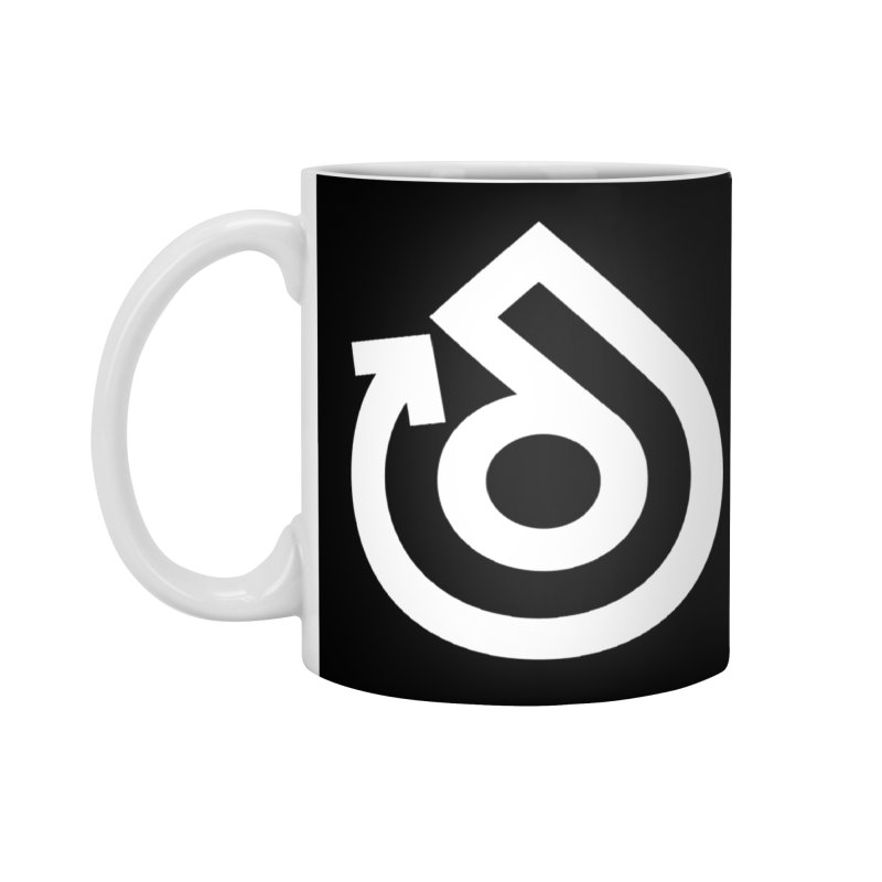 white logo only Accessories Standard Mug by direction.church gear