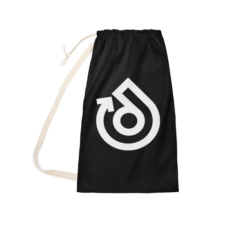 white logo only Accessories Laundry Bag Bag by direction.church gear