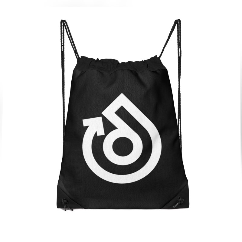 white logo only Accessories Drawstring Bag Bag by direction.church gear