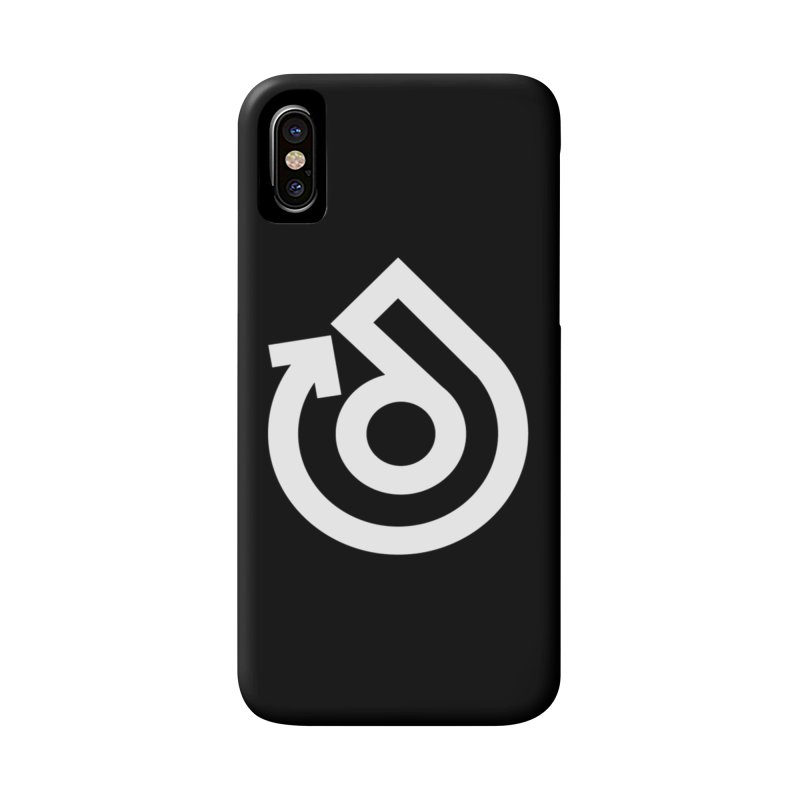 white logo only Accessories Phone Case by direction.church gear