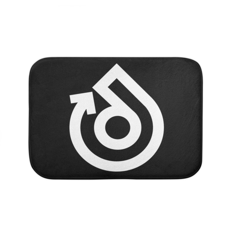 white logo only Home Bath Mat by direction.church gear