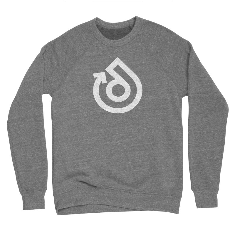 white logo only Men's Sponge Fleece Sweatshirt by direction.church gear
