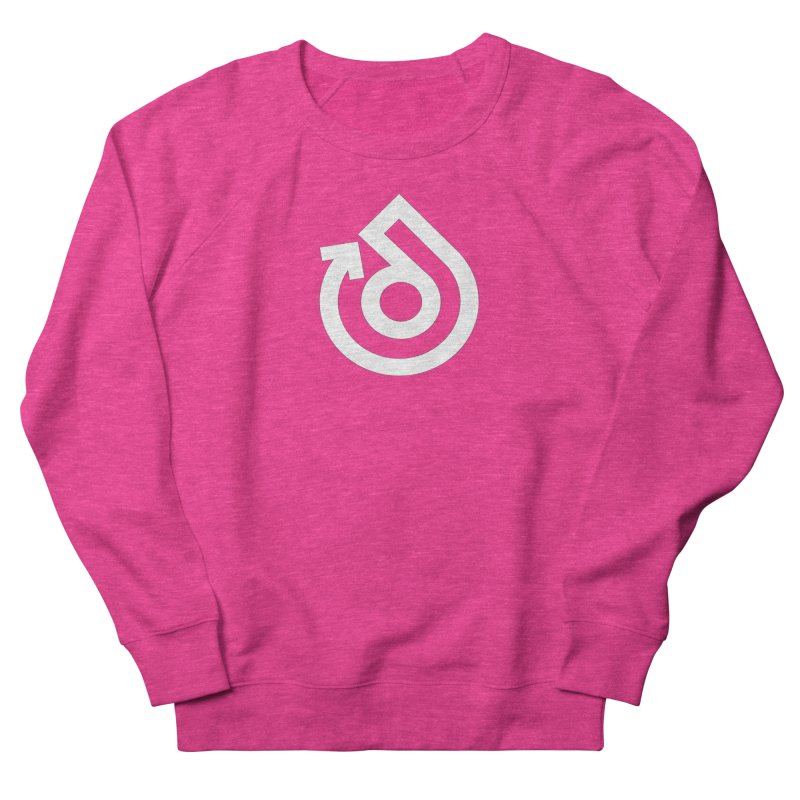 white logo only Women's French Terry Sweatshirt by direction.church gear