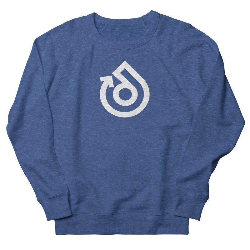 white logo only Men's French Terry Sweatshirt by direction.church gear