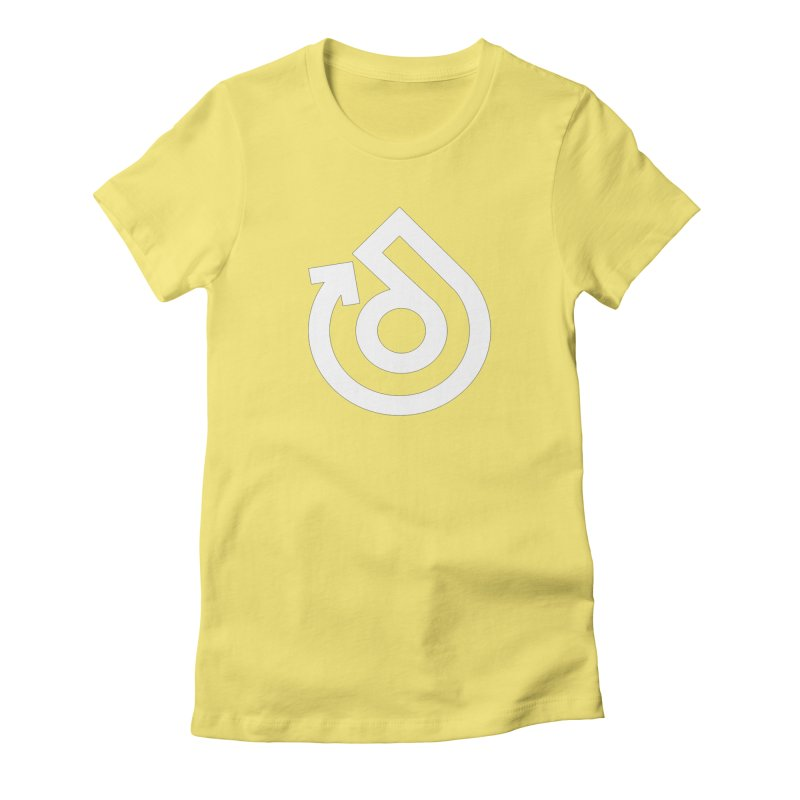 white logo only Women's Fitted T-Shirt by direction.church gear