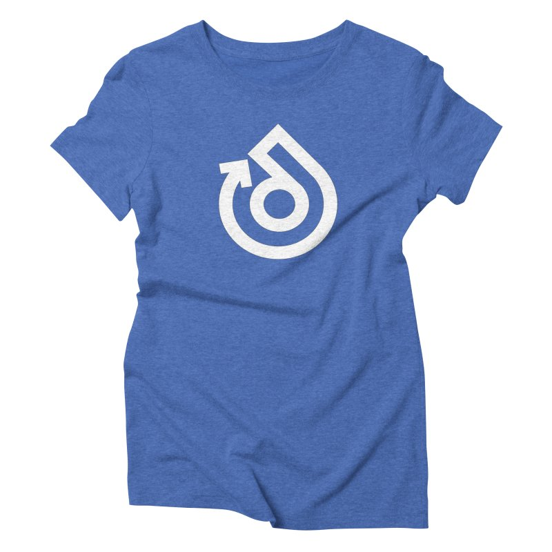 white logo only Women's Triblend T-Shirt by direction.church gear