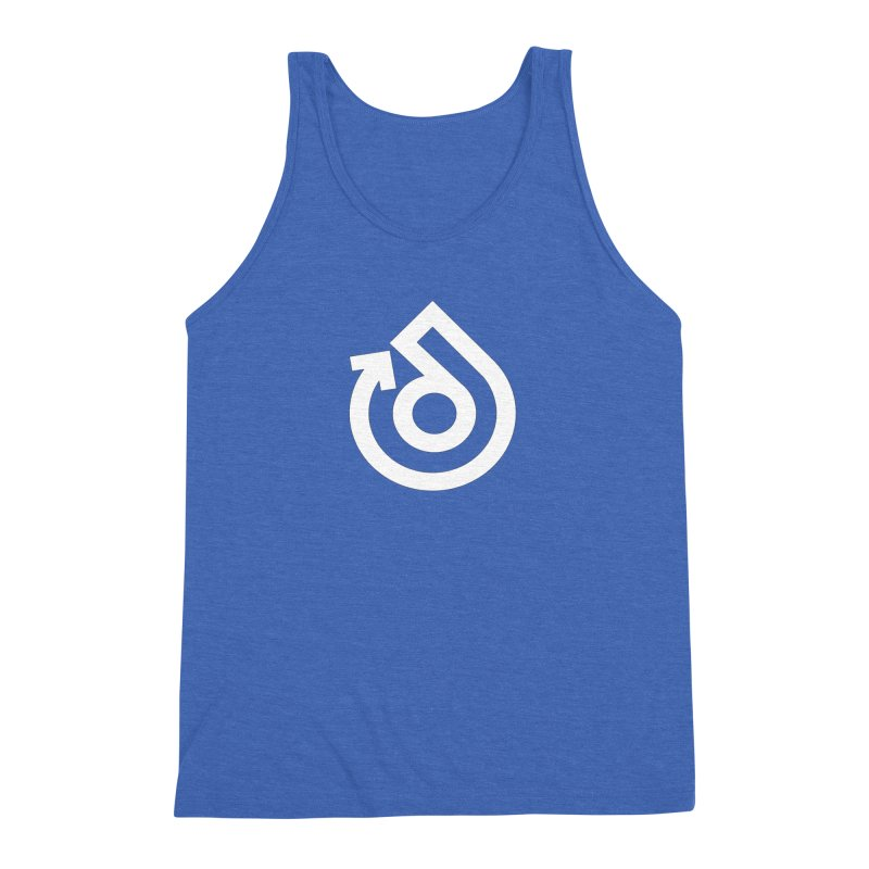 white logo only Men's Triblend Tank by direction.church gear