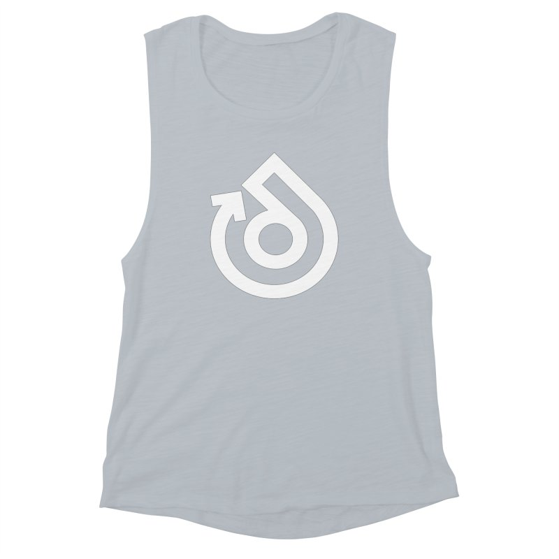 white logo only Women's Muscle Tank by direction.church gear