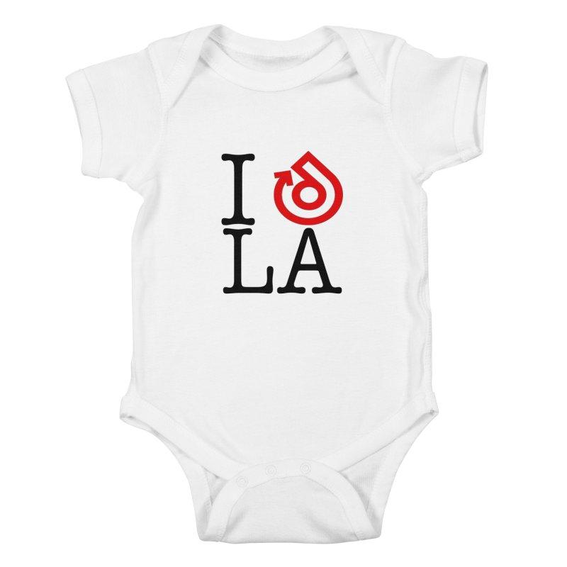 I heart LA LOGO shirt Kids Baby Bodysuit by direction.church gear