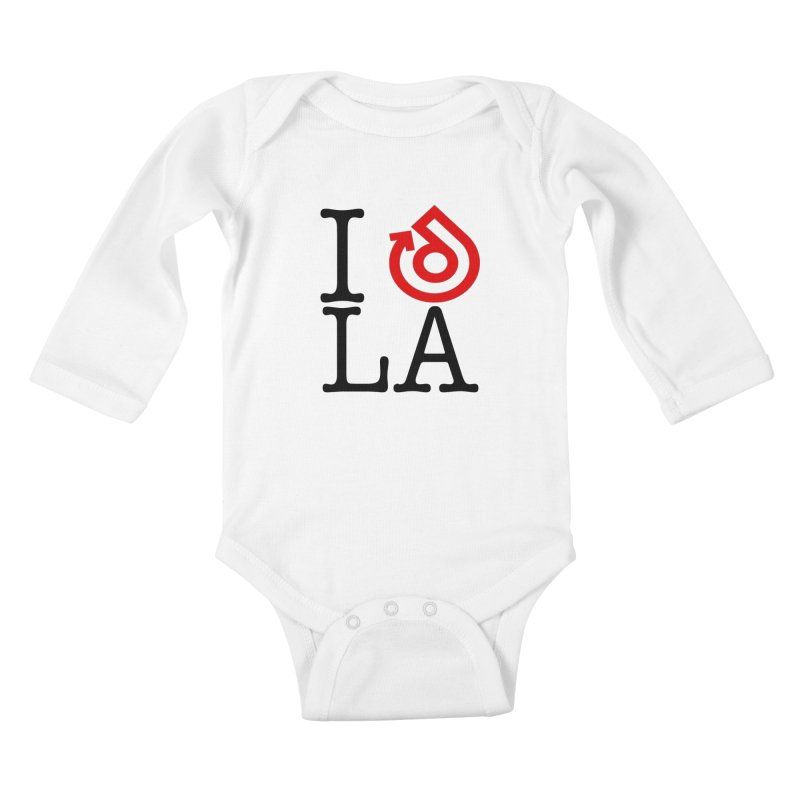 I heart LA LOGO shirt Kids Baby Longsleeve Bodysuit by direction.church gear