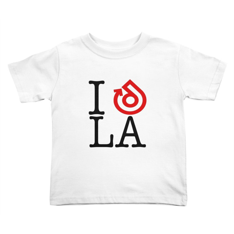 I heart LA LOGO shirt Kids Toddler T-Shirt by direction.church gear
