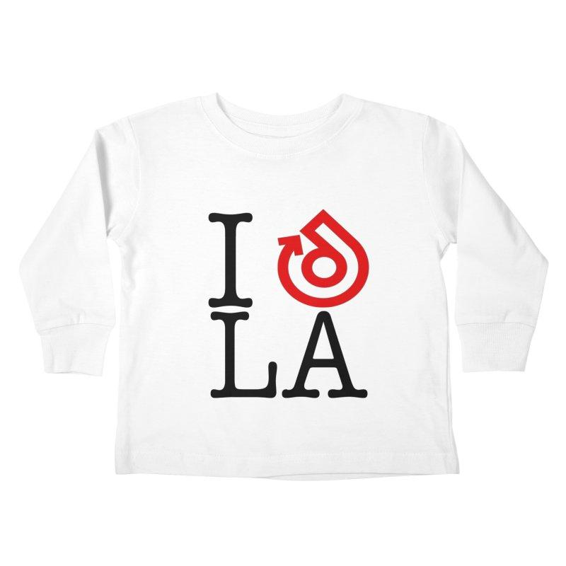 I heart LA LOGO shirt Kids Toddler Longsleeve T-Shirt by direction.church gear
