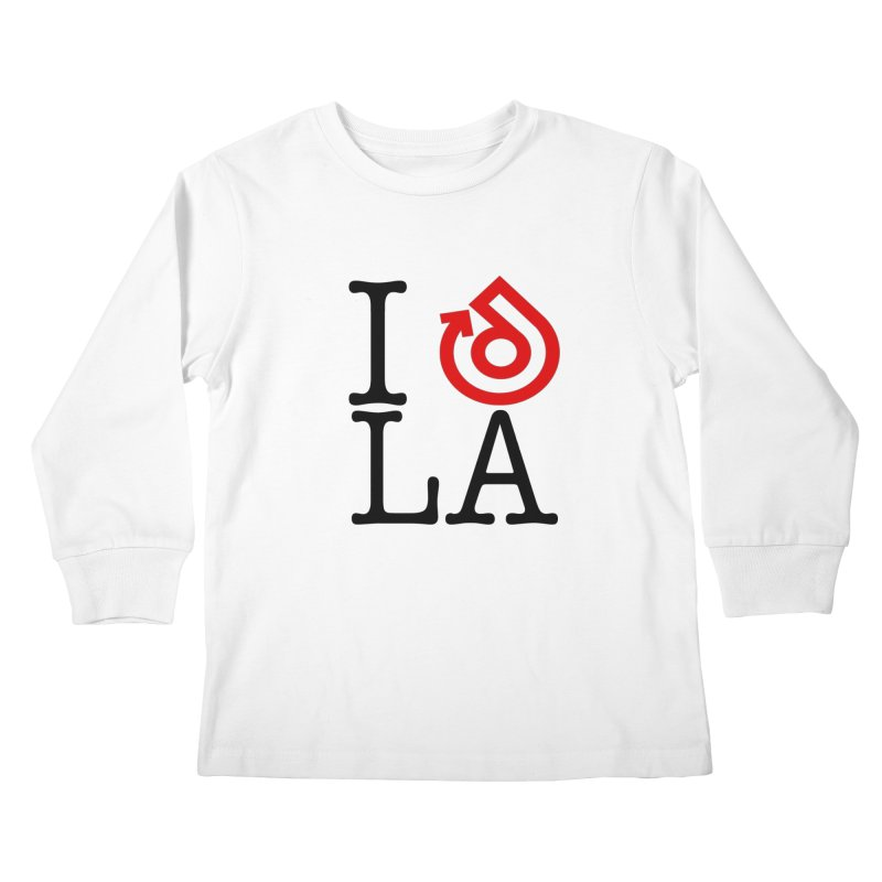 I heart LA LOGO shirt Kids Longsleeve T-Shirt by direction.church gear